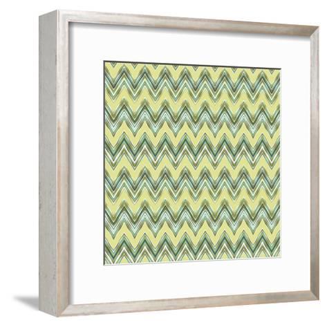 Chevron Waves III-Katia Hoffman-Framed Art Print