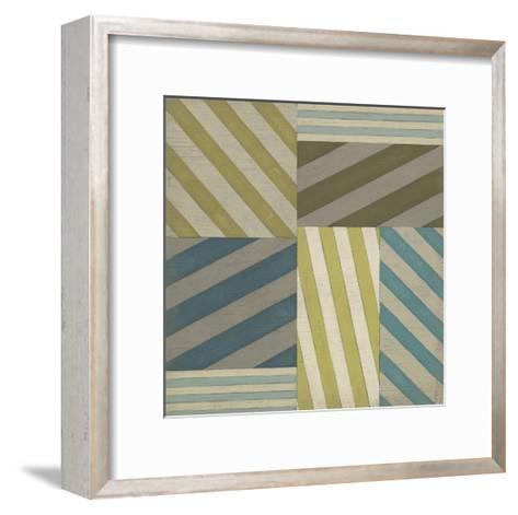 Nautical Stripes I-June Erica Vess-Framed Art Print