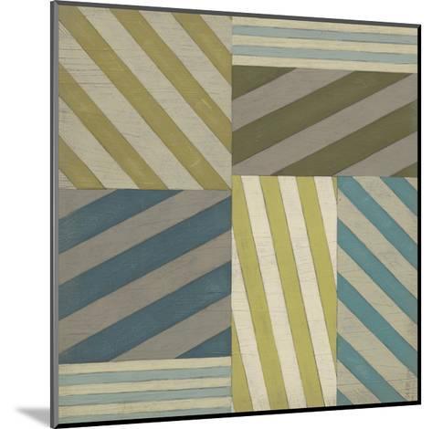 Nautical Stripes I-June Erica Vess-Mounted Art Print