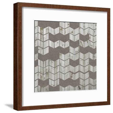 Chevron Cut Out I-Jennifer Goldberger-Framed Art Print