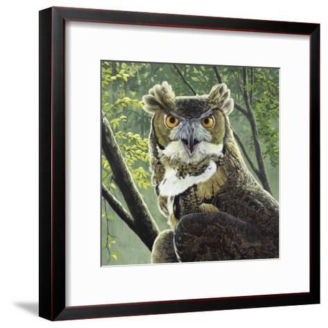 Great Horned Owl-Fred Szatkowski-Framed Art Print