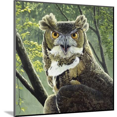 Great Horned Owl-Fred Szatkowski-Mounted Art Print