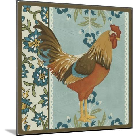 Cottage Rooster IV-Erica J^ Vess-Mounted Art Print