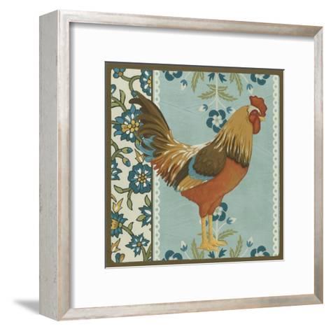 Cottage Rooster IV-Erica J^ Vess-Framed Art Print