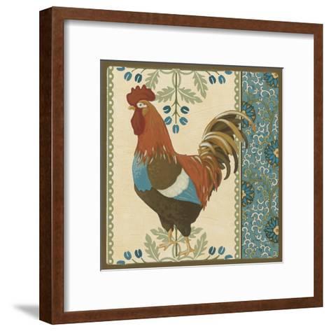 Cottage Rooster V-Erica J^ Vess-Framed Art Print