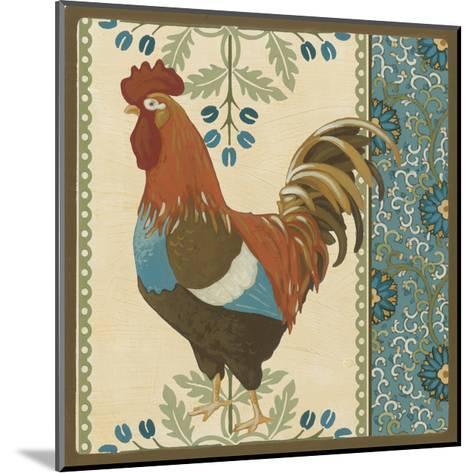 Cottage Rooster V-Erica J^ Vess-Mounted Art Print