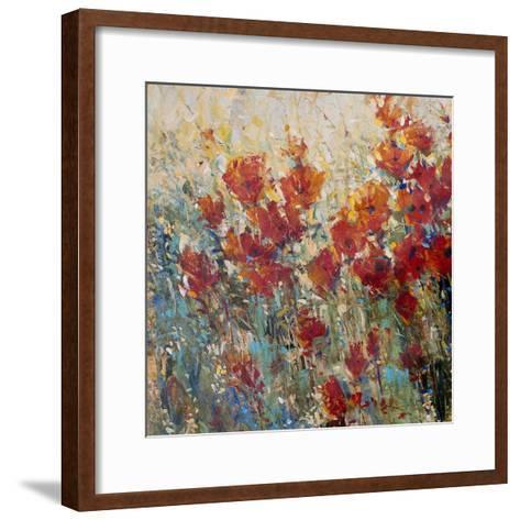 Red Poppy Field I-Tim O'toole-Framed Art Print