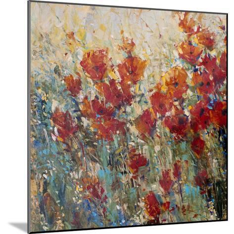 Red Poppy Field I-Tim O'toole-Mounted Art Print