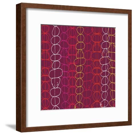 Red Fall III-Ali Benyon-Framed Art Print