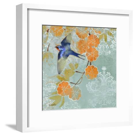 Blue Aurora II-Evelia Designs-Framed Art Print