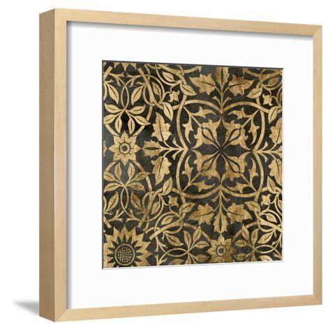 Golden Damask I-Jennifer Goldberger-Framed Art Print
