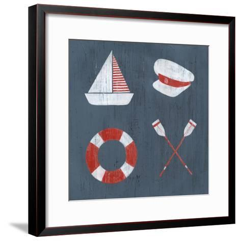 Nautical Quadrant II-Grace Popp-Framed Art Print