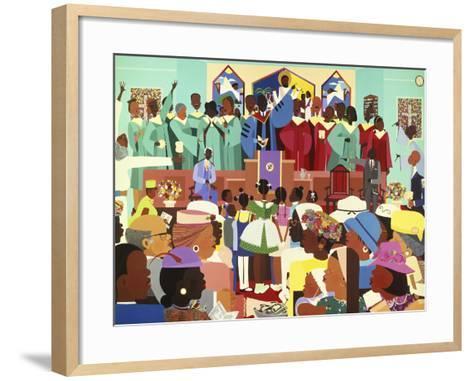 Jesus Loves Me-Varnette Honeywood-Framed Art Print