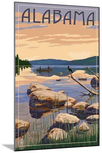 Alabama - Lake Sunrise Scene-Lantern Press-Mounted Art Print