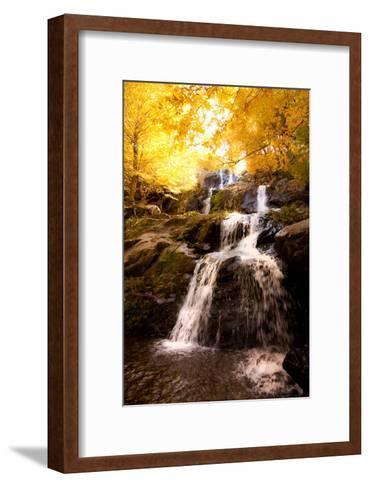 Waterfall in Autumn-Lantern Press-Framed Art Print
