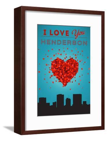 I Love You Henderson, Nevada-Lantern Press-Framed Art Print
