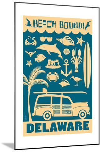 Delaware - Coastal Icons-Lantern Press-Mounted Art Print