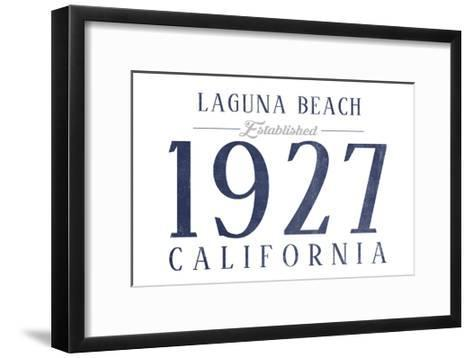 Laguna Beach, California - Established Date (Blue)-Lantern Press-Framed Art Print