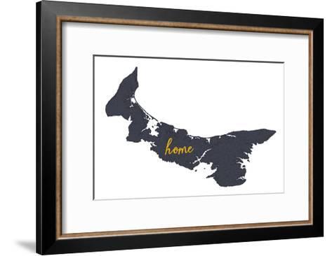 Prince Edward Island - Home - Gray on White-Lantern Press-Framed Art Print