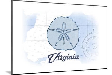 Virginia - Sand Dollar - Blue - Coastal Icon-Lantern Press-Mounted Art Print