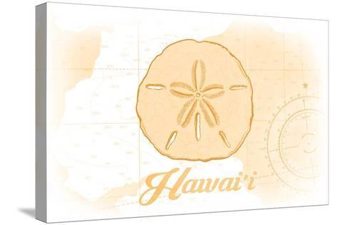 Hawaii - Sand Dollar - Yellow - Coastal Icon-Lantern Press-Stretched Canvas Print