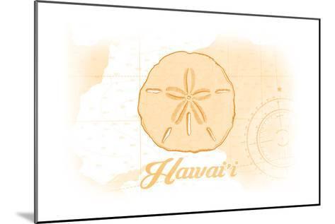 Hawaii - Sand Dollar - Yellow - Coastal Icon-Lantern Press-Mounted Art Print
