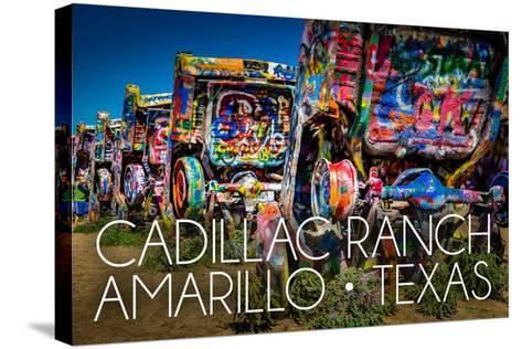 Amarillo, Texas - Cadillac Ranch-Lantern Press-Stretched Canvas Print