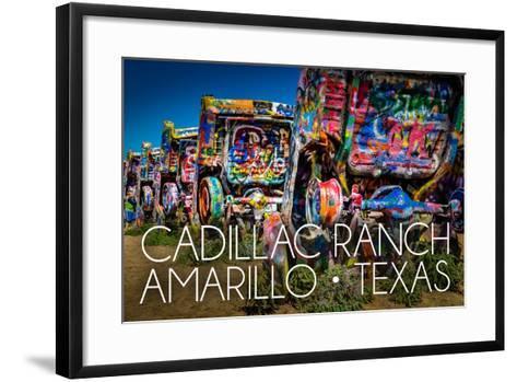 Amarillo, Texas - Cadillac Ranch-Lantern Press-Framed Art Print