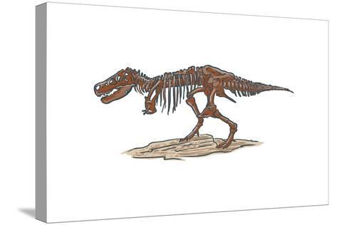 T-Rex - Icon-Lantern Press-Stretched Canvas Print
