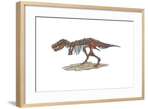 T-Rex - Icon-Lantern Press-Framed Art Print