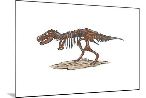 T-Rex - Icon-Lantern Press-Mounted Art Print