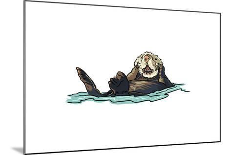 Sea Otter - Icon-Lantern Press-Mounted Art Print