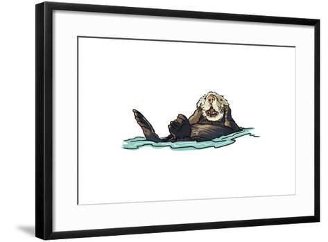 Sea Otter - Icon-Lantern Press-Framed Art Print