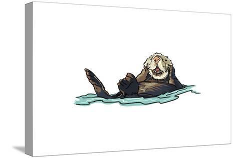 Sea Otter - Icon-Lantern Press-Stretched Canvas Print