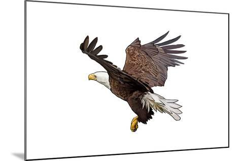 Bald Eagle Landing - Icon-Lantern Press-Mounted Art Print