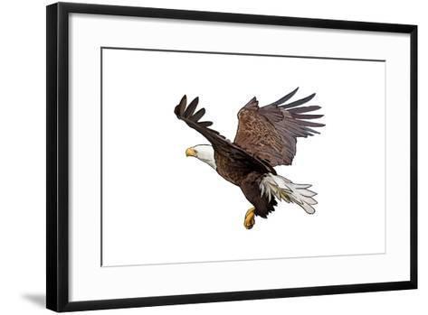 Bald Eagle Landing - Icon-Lantern Press-Framed Art Print