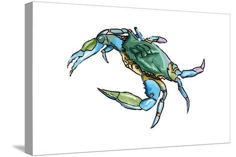 Blue Crab 2 - Icon-Lantern Press-Stretched Canvas Print