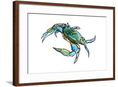 Blue Crab 2 - Icon-Lantern Press-Framed Art Print