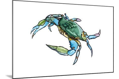 Blue Crab 2 - Icon-Lantern Press-Mounted Art Print