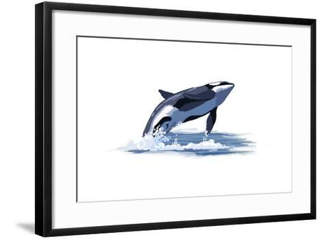 Orca Whale - Icon-Lantern Press-Framed Art Print