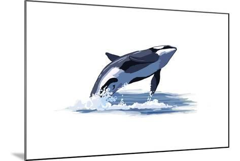 Orca Whale - Icon-Lantern Press-Mounted Art Print