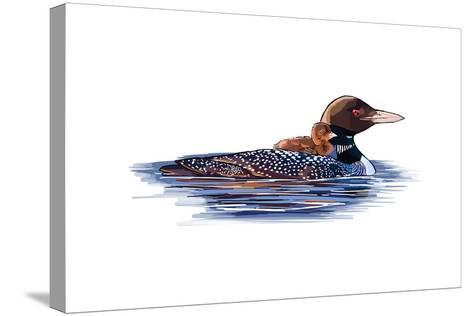 Loons - Icon-Lantern Press-Stretched Canvas Print