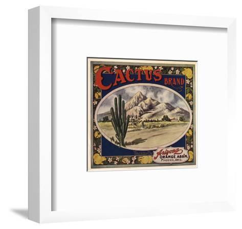 Cactus Brand - Phoenix, Arizona - Citrus Crate Label-Lantern Press-Framed Art Print
