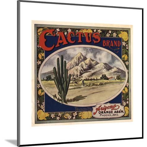 Cactus Brand - Phoenix, Arizona - Citrus Crate Label-Lantern Press-Mounted Art Print