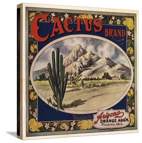 Cactus Brand - Phoenix, Arizona - Citrus Crate Label-Lantern Press-Stretched Canvas Print