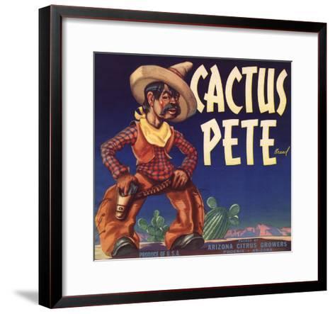 Cactus Pete Brand - Phoenix, Arizona - Citrus Crate Label-Lantern Press-Framed Art Print