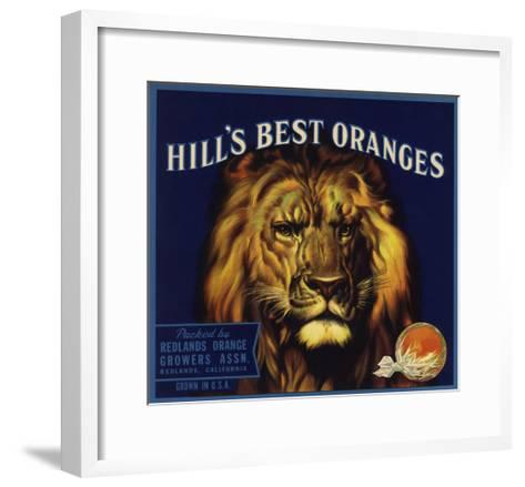 Hills Best Brand - Redlands, California - Citrus Crate Label-Lantern Press-Framed Art Print