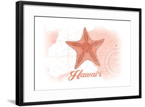 Hawaii - Starfish - Coral - Coastal Icon-Lantern Press-Framed Art Print