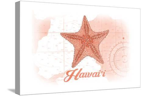 Hawaii - Starfish - Coral - Coastal Icon-Lantern Press-Stretched Canvas Print