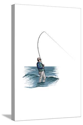 Sea Fisherman - Icon-Lantern Press-Stretched Canvas Print